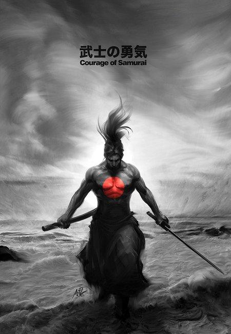 Courage of samurai