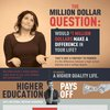 The Million Dollar Question Infographic | 55,000 Degrees