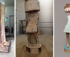 Japanese Sculptor Shows How He Transforms Wood Into Surreal Statues | Bored Panda