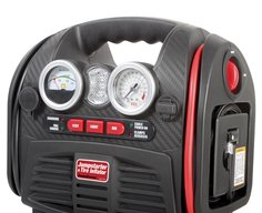 Combination Jump Starter, Air Compressor, USB Charger and Emergency Light