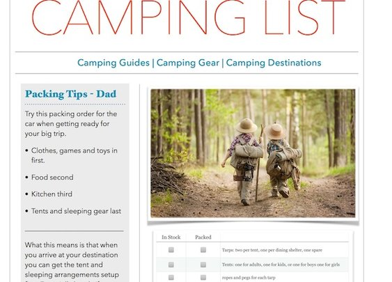 Packing For The Family Camping Trip - Wild Getaway