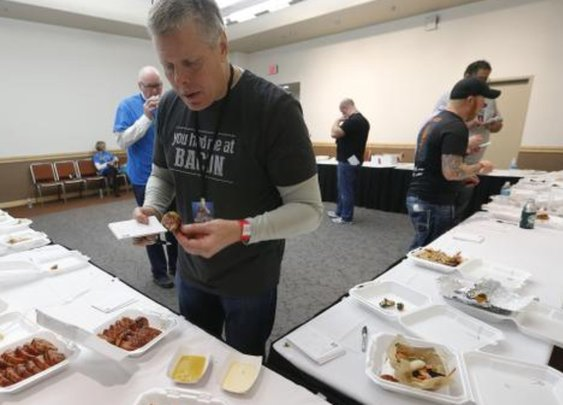 Bacon Fest judge abandons vegetarianism one day a year