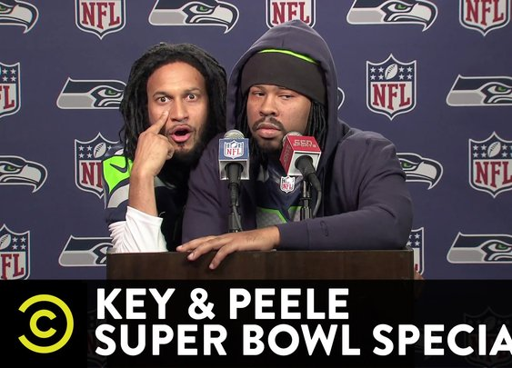 Key & Peele Super Bowl Special - Marshawn Lynch and Richard Sherman's Joint Press Conference