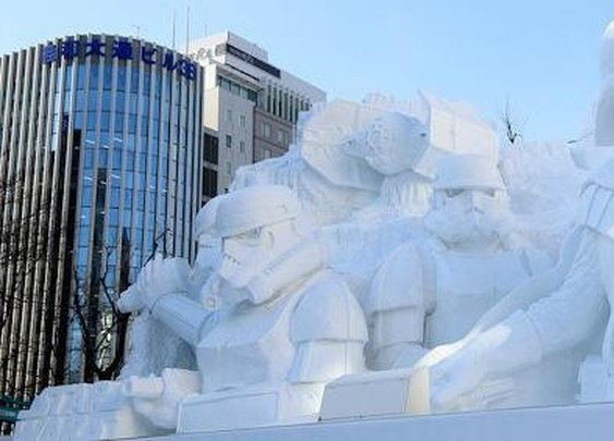 Check Out This Amazing 50-Foot Darth Vader Made of Snow - For The Win - Zimbio