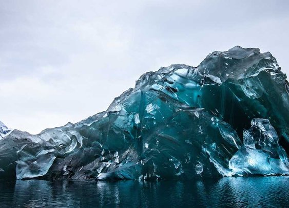 Photos Of A Flipped Iceberg In Antarctica