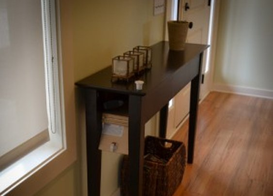Hidden Long Gun Storage in Entry Table   StashVault