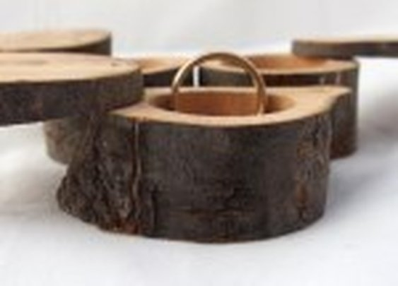 Engagement ring box, handcrafted and rustic
