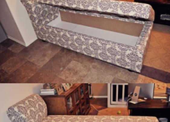 Chaise Lounger with Hidden Storage   StashVault