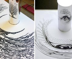 23 Stunning Anamorphic Artworks That Can Only Be Seen With A Mirror Cylinder | Bored Panda