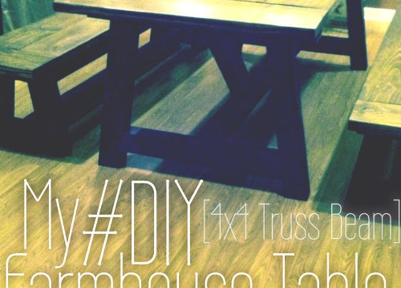 My DIY Farmhouse Table [4×4 Truss Beam] | Thinking Out Loud | gtylermills
