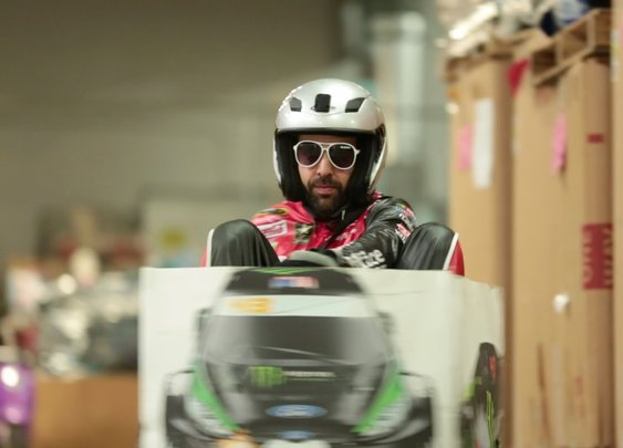 Ken Box: Crazy Cart Gymkhana! Epic Ken Block Gymkhana Tribute: (a Ken Block Gymkhana parody) - YouTube
