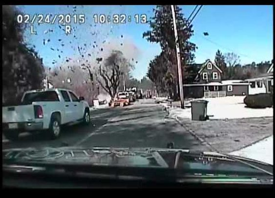 Stafford gas main break and explosion
