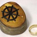 Dharma Wheel ring or keepsake box in elm wood by Hope & Grace Pens