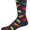 Dinosaur Style Men's Novelty Comfort Crew Socks - Cotton/lycra/nylon