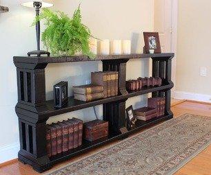 Rustic Book Shelf or TV stand Gentlemint