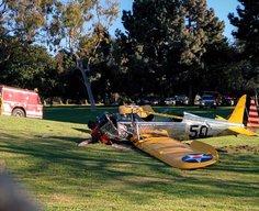 Harrison Ford crash lands his vintage plane
