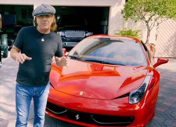 The Awesome Car Collection of AC/DC Lead Singer Brian Johnson