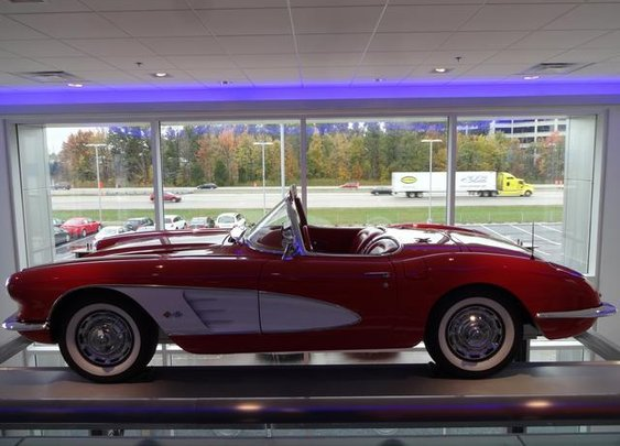 1959 Chevrolet Corvette with less than 5,000 miles? Gorgeous car.