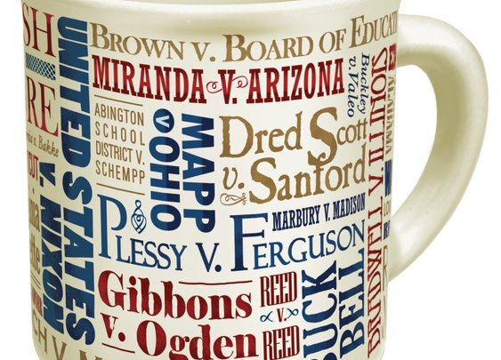 Great Supreme Court Cases Mug