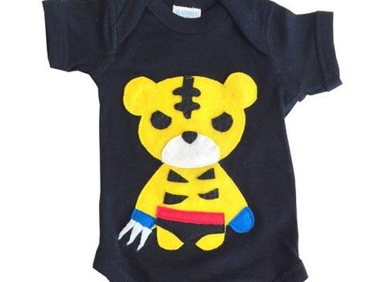 Tiger Superhero Baby Bodysuit
