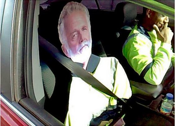 Cardboard 'Most Interesting Man' fails as carpool-lane ruse - WTOP