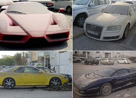 Luxury high performance cars left abandoned by British expats who fear being jailed because of debts | Daily Mail Online