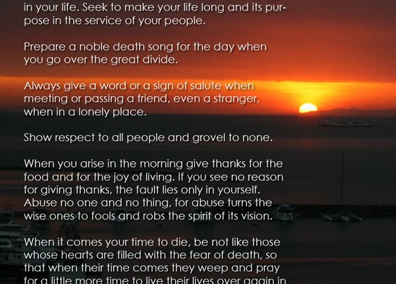 Tecumseh poem from Act of Valor