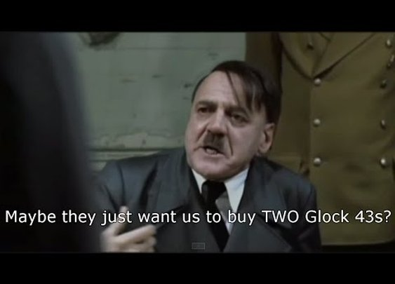 Hitler Hears About The Glock 43