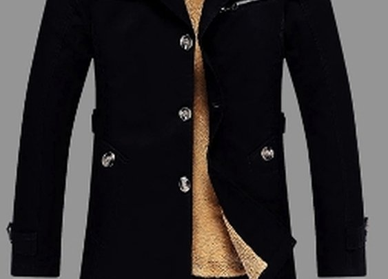 Mens Mid Length Fur Lined Coat