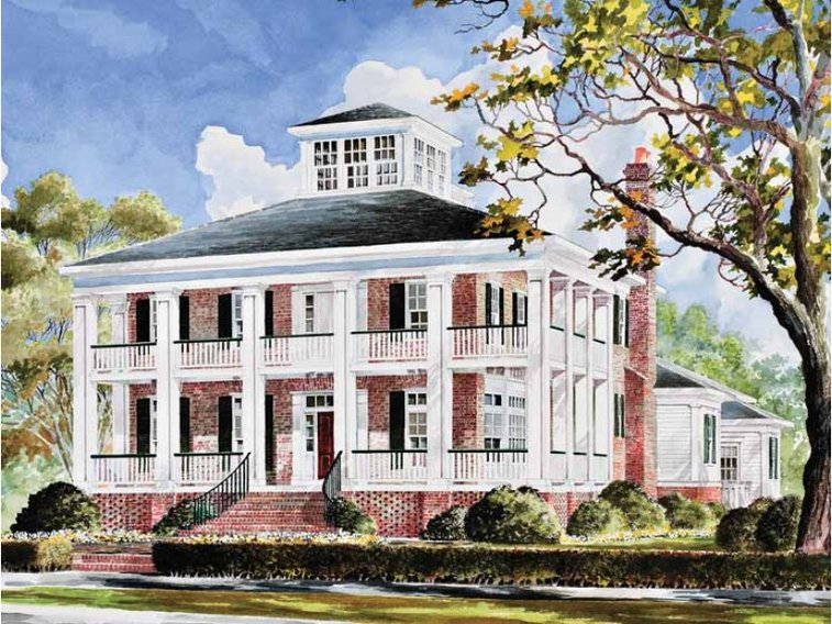 Plantation house plan with 3655 square feet and 4 bedrooms for Dream house source