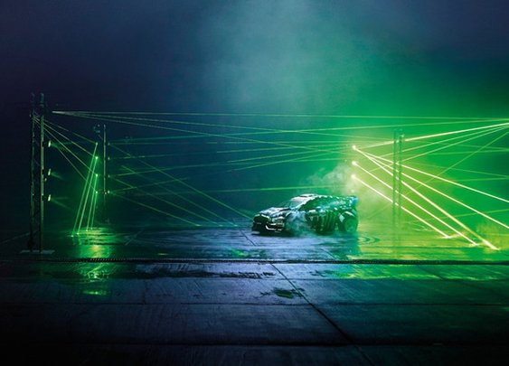 ken block drifts on castrol's pitch-black racetrack with hundreds of lasers - StumbleUpon