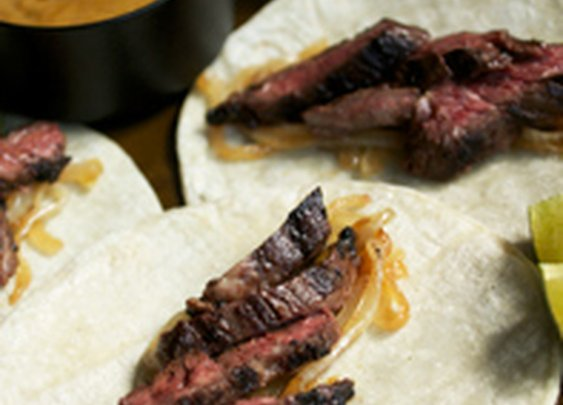 Skirt Steak Tacos with Mojo de Ajo