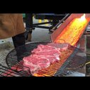 Lava Steak (Lava-cooked steaks in upstate New York)