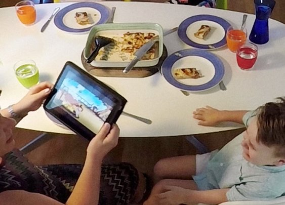 Technology has hijacked family dinnertime. Watch the Pepper Hacker reclaim it.