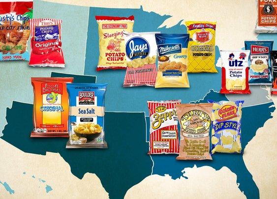 Regional Potato Chips - Zapp's, Utz, Better Made, Boulder Canyon