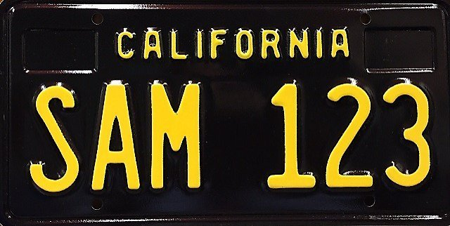 Muscle up: California reissues classic black license plates - SFGate