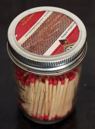 Mason Jar Match Dispenser - DIY Craft's Home Decor