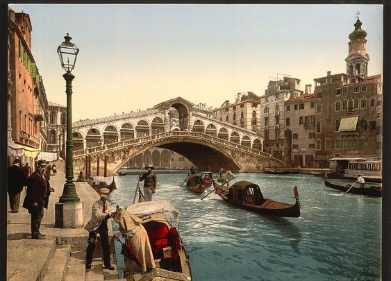 See Venice in Beautiful Color Images 125 Years Ago