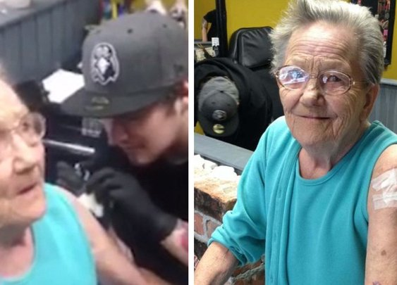 79-Year-Old Grandma Who Went Missing Was Found Getting Her First Tattoo | Bored Panda