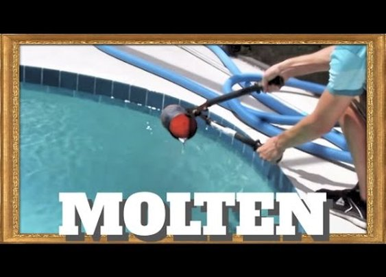 Pouring molten aluminum into a pool!! - YouTube