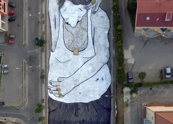 "Soon on Goggle map: ""Street art""... Campania, Italy."