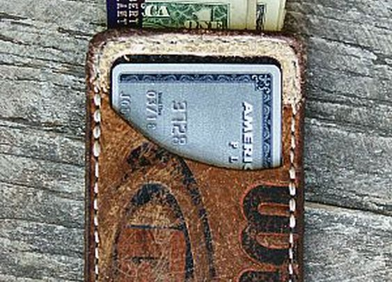 Limited Edition Vvault Front Pocket Wallet-Built From Old Footballs -Vvego