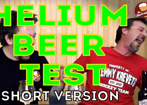 Helium Beer Test (April Fool's But Still Funny)