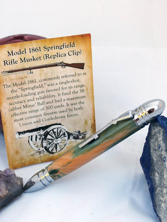 Civil War pen handcrafted from wood recovered at Chacellorsville