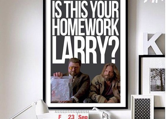 The Big Lebowski – ('Homework') wall art