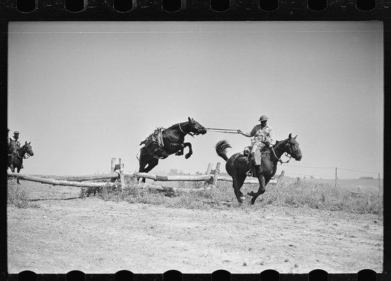 1942 Cavalry Machine Gun Platoon Training: Ft. Riley, KS