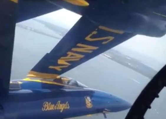 This Blue Angels Diamond Formation Is Terrifyingly Tight