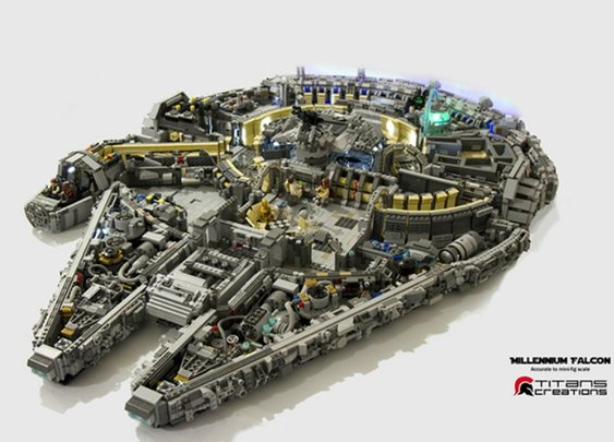 Team captures every detail of the Millennium Falcon in epic Lego build