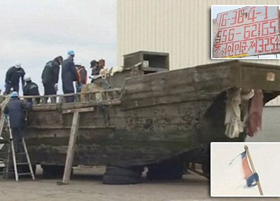 Mystery ghost fleet washes up in Japan as 11 ships containing 20 dead sailors are found | Daily Mail Online