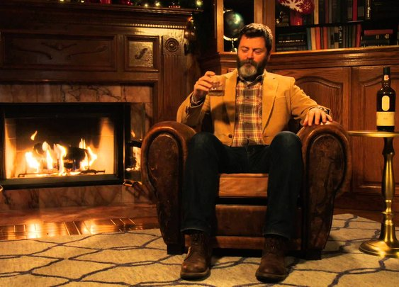 Nick Offerman's 'Yule Log' - YouTube
